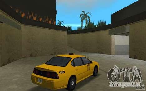 Chevrolet Impala Taxi pour une vue GTA Vice City de la droite