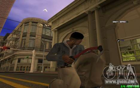 Brise-glace (rouge) pour GTA San Andreas troisième écran