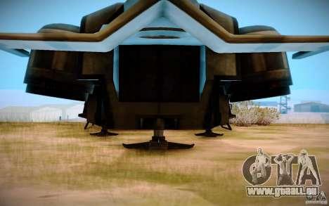 BTR-20 Yastreb pour GTA San Andreas sur la vue arrière gauche