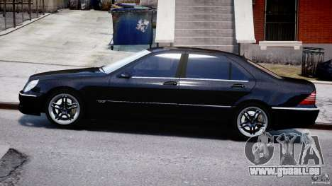 Mercedes-Benz W220 für GTA 4 linke Ansicht