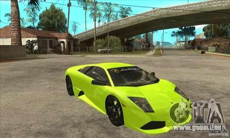 Lamborghini Murcielago LP640 pour GTA San Andreas vue intérieure