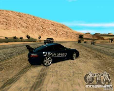 Porsche GT3 SuperSpeed TUNING pour GTA San Andreas sur la vue arrière gauche