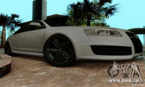 Audi RS6 2009 pour GTA San Andreas vue intérieure