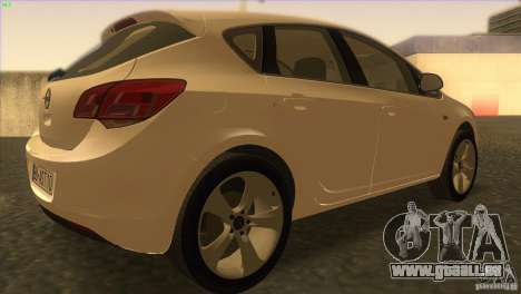 Opel Astra 2010 pour GTA San Andreas vue de droite