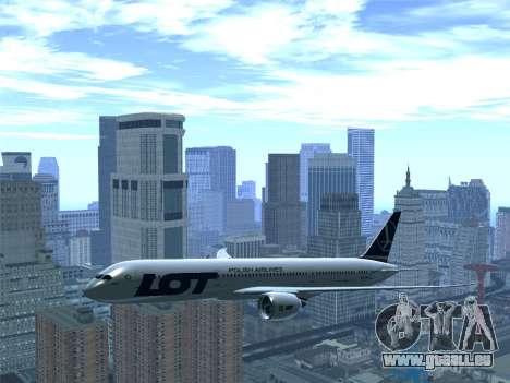 Boeing 787-9 LOT Polish Airlines pour GTA San Andreas vue de dessous