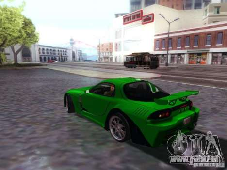Mazda RX7 pour GTA San Andreas laissé vue