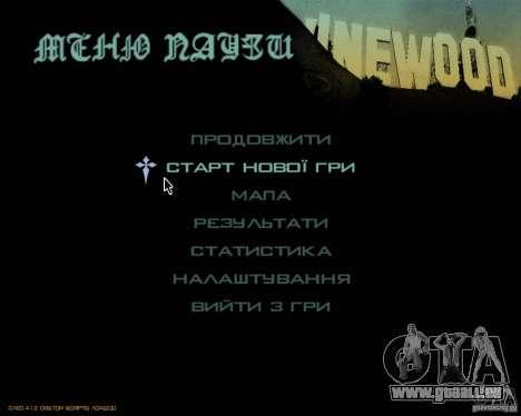 Ukraïnizator 2.0 pour GTA San Andreas deuxième écran
