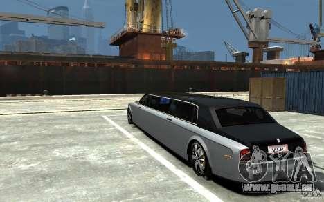 Rolls-Royce Phantom Sapphire Limousine v.1.2 pour GTA 4 Vue arrière de la gauche