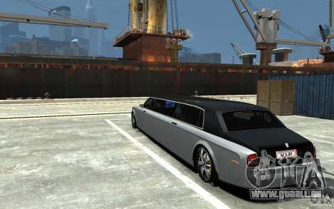 Rolls-Royce Phantom Sapphire Limousine v.1.2 für GTA 4 hinten links Ansicht