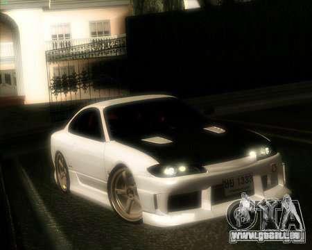Nissan Silvia pour GTA San Andreas vue intérieure