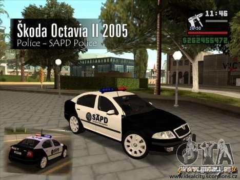 Skoda Octavia II 2005 SAPD POLICE pour GTA San Andreas