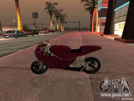 Turbine Superbike pour GTA San Andreas sur la vue arrière gauche