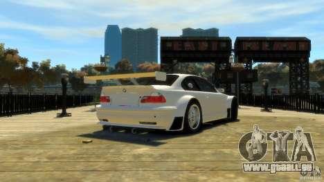 BMW E46 M3 GTR Sport pour GTA 4 Vue arrière de la gauche