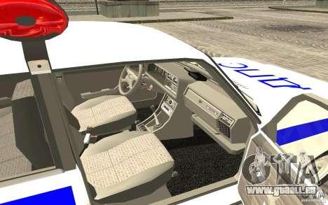 Voiture de Police VAZ 2107 DPS pour GTA San Andreas sur la vue arrière gauche