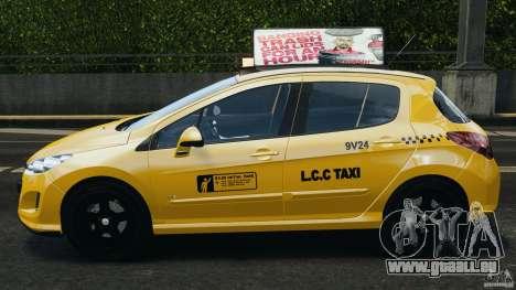 Peugeot 308 GTi 2011 Taxi v1.1 für GTA 4 linke Ansicht
