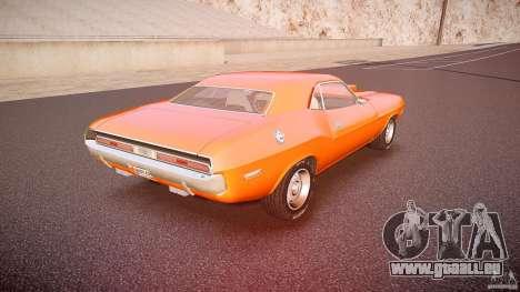 Dodge Challenger v1.0 1970 pour GTA 4 vue de dessus