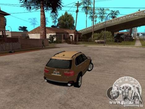BMW X5 E70 pour GTA San Andreas laissé vue