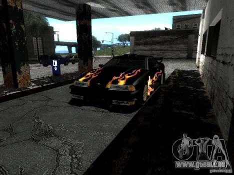 Rèjzora de vinyle de Most Wanted pour GTA San Andreas vue intérieure