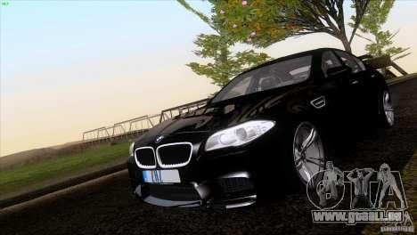 BMW M5 2012 pour GTA San Andreas vue intérieure