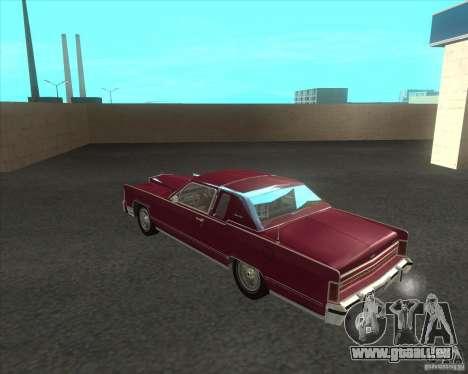 Lincoln Continental Town Coupe 1979 pour GTA San Andreas sur la vue arrière gauche