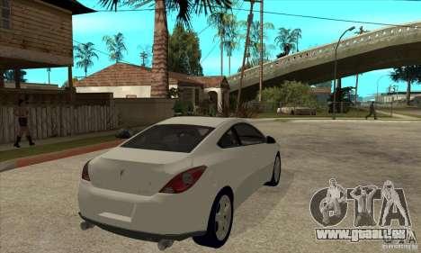 Pontiac G6 Stock Version pour GTA San Andreas vue de droite