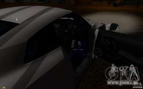 Nissan GTR R35 Spec-V 2010 für GTA San Andreas obere Ansicht