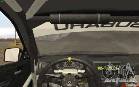 Subaru Impreza WRX Gymkhana2 Beta für GTA San Andreas Rückansicht