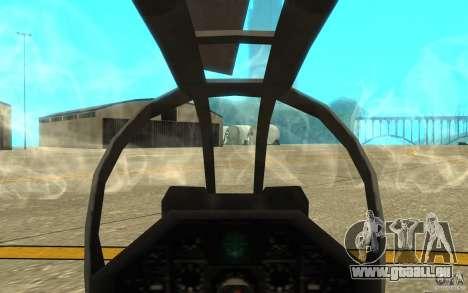 Cobra pour GTA San Andreas vue intérieure