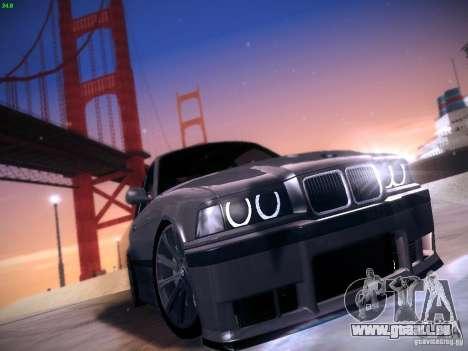 BMW M3 E36 320i Tunable pour GTA San Andreas laissé vue