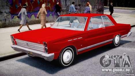 Ford Mercury Comet 1965 [Final] pour GTA 4 est une vue de l'intérieur