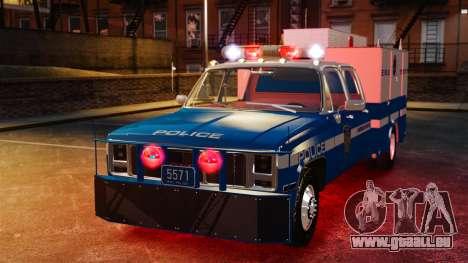 GMC C3500 NYPD ESU für GTA 4 Rückansicht