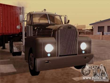 Mack B 61 pour GTA San Andreas laissé vue