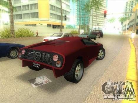 Infernus de GTA IV pour GTA Vice City sur la vue arrière gauche