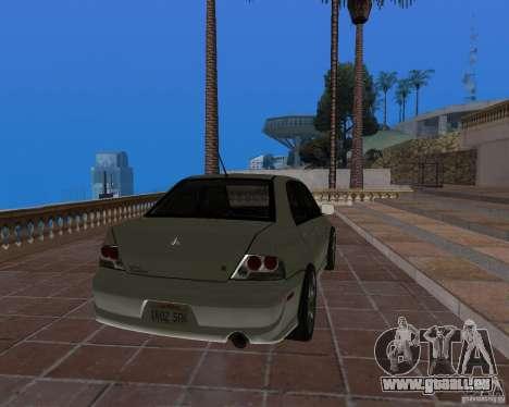 Mitsubishi Lancer Evolution VIII für GTA San Andreas linke Ansicht