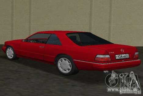 Mercedes-Benz E 320 (C124) für GTA Vice City linke Ansicht