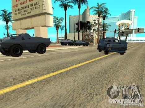 SWAT et du FBI camion rouler dans les rues de pour GTA San Andreas troisième écran