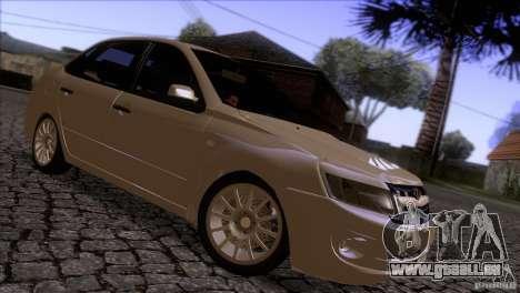 VAZ 2190 Granta für GTA San Andreas Rückansicht