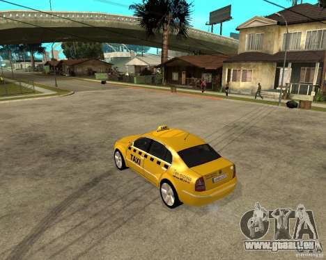 Skoda Superb TAXI cab pour GTA San Andreas sur la vue arrière gauche