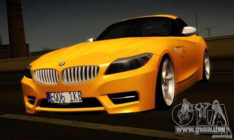 BMW Z4 Stock 2010 pour GTA San Andreas vue arrière