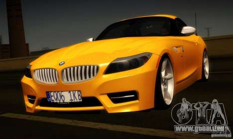 BMW Z4 Stock 2010 für GTA San Andreas Rückansicht