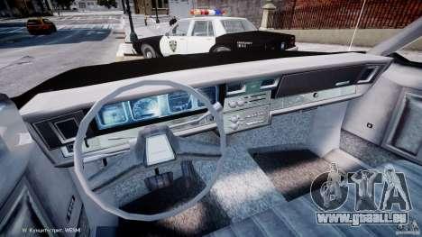 Chevrolet Impala Police 1983 pour GTA 4 Vue arrière