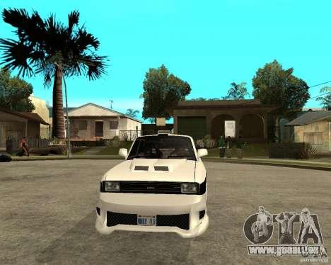 AZLK 2140 sous terre pour GTA San Andreas vue arrière