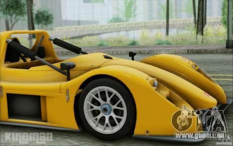 Radical SR3 RS 2009 für GTA San Andreas Rückansicht