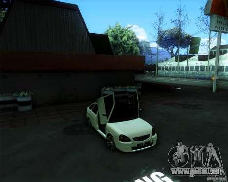 LADA PRIORA 2172 pour GTA San Andreas sur la vue arrière gauche