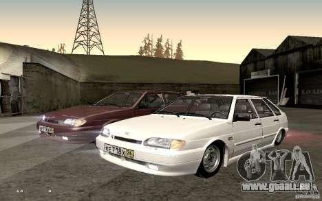 ВАЗ 2114 qualité pour GTA San Andreas vue de droite