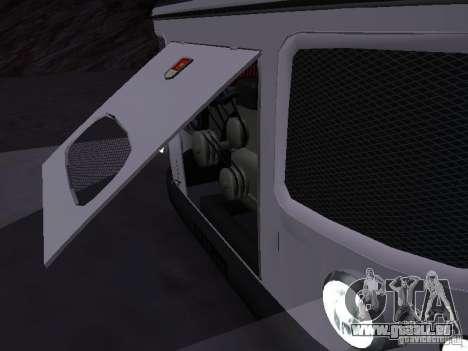 RAINURE 672.60 pour GTA San Andreas sur la vue arrière gauche
