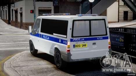 Ford Transit Polish Police [ELS] pour GTA 4 Vue arrière de la gauche
