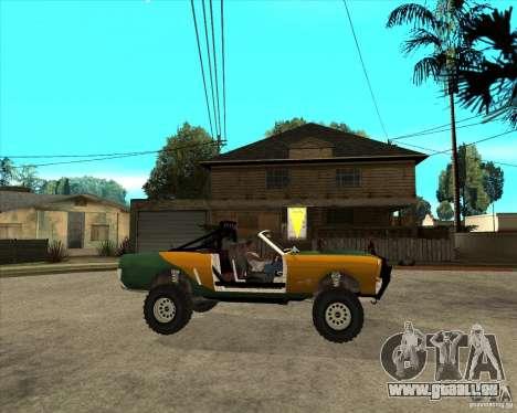 Ford Mustang Sandroadster für GTA San Andreas rechten Ansicht