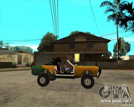 Ford Mustang Sandroadster pour GTA San Andreas vue de droite