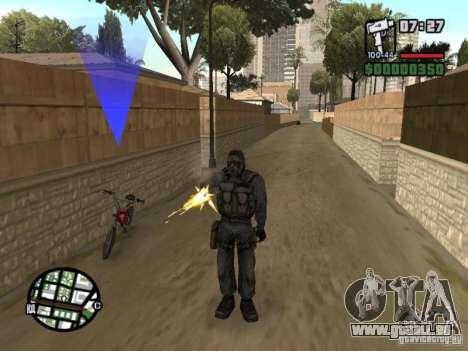 Mercenaire de STALKER en masque pour GTA San Andreas deuxième écran